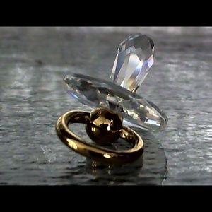Swarovski tiny pacifier crystal